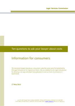Ten questions to ask your lawyer about costs