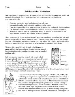 Printables Soil Formation Worksheet glencoe ch 7 weathering erosion and soil formation worksheet