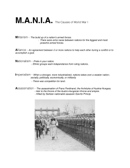 MANIA The Causes of World War I
