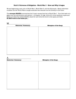 MANIA worksheet