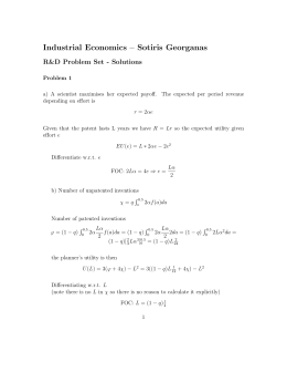Industrial Economics – Sotiris Georganas