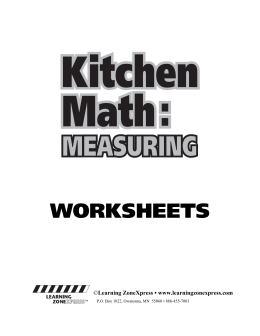 WORKSHEETS - Learning ZoneXpress