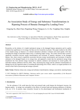 An Association Study of Energy and Substance Transformations in