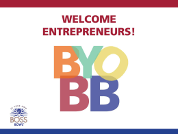 2015 Info Session BYOBB - Fox School of Business