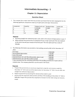 Intermediate Accounting — 1 Chapter 11: Depreciation J, 5