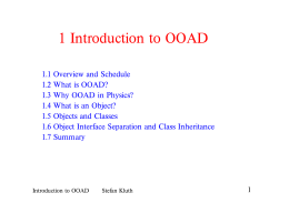 1 Introduction to OOAD