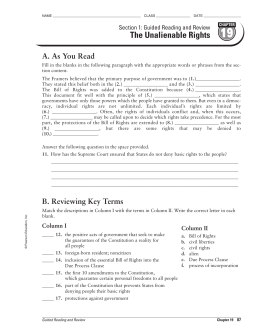 Guided Reading and Review