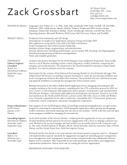 finished resume - Zack Grossbart