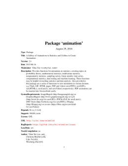 Package `animation`