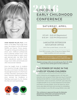 lincoln early childhood conference