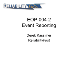 EOP-004-2 Event Reporting