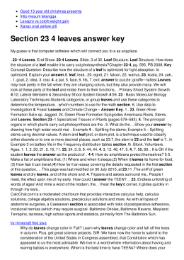 Section 23 4 leaves answer key - No