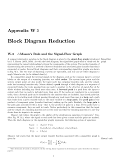 Block Diagram Reduction