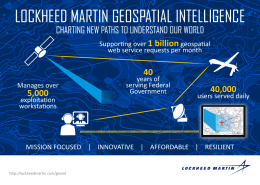LOCKHEED MARTIN GEOSPATIAL INTELLIGENCE