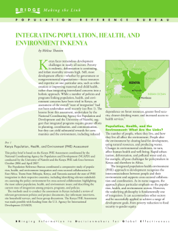 integrating population, health, and environment in kenya