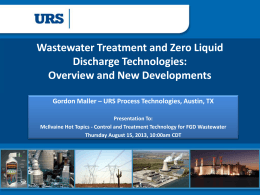 Wastewater Treatment and Zero Liquid Discharge Technologies