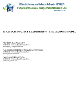 strategic project leadership ® - the diamond model