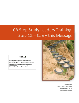 CR Step Study Leaders Training