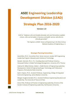2016 Strategic Plan (SHORT)