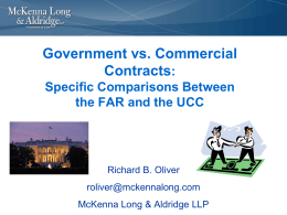 Government vs. Commercial Contracts: Specific Comparisons