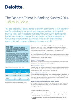 The Deloitte Talent in Banking Survey 2014 Turkey in Focus