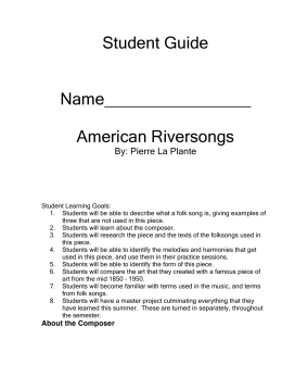 American River Songs Student Guide