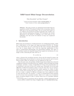 MRF-based Blind Image Deconvolution - Imagine