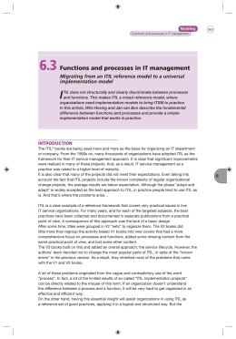 Functions and processes in IT management - Inform-IT