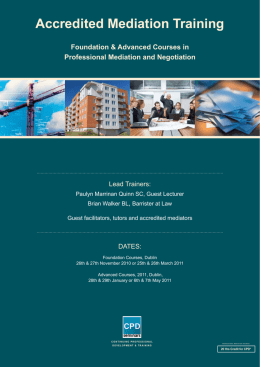 Accredited Mediation Training