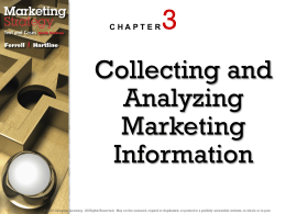 Collecting and Analyzing Marketing Information