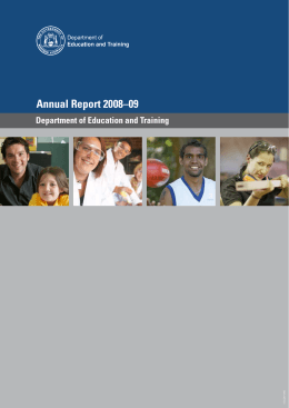 Annual Report 2008–09 - Department of Training and Workforce