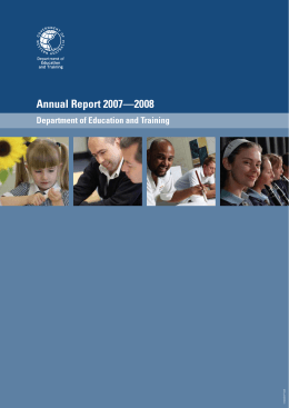Annual Report 2007—2008 - Department of Training and Workforce