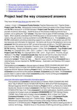 Project lead the way crossword answers