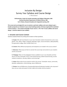 Inclusion By Design - Center for Teaching Excellence – University of