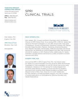 SPRI ClINICAl TRIAlS - Thievon