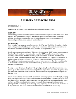 a history of forced labor