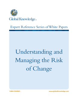 Understanding and Managing the Risk of Change