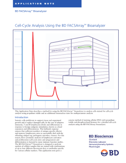 Cell-Cycle Analysis Using the BD FACSArray