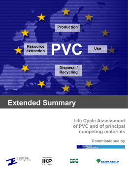 Extended Summary - Life Cycle Assessment (LCA) of PVC and of