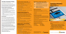 Symantec Education Course Schedule February to June 2012