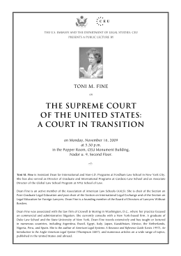 the supreme court of the united states: a court in transition