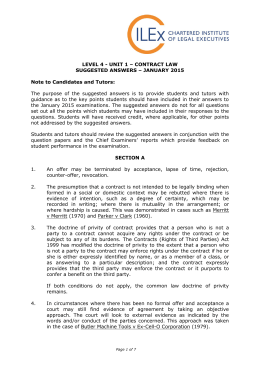 Jan 15 Contract Law
