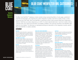 BLUE COAT WEBFILTER URL CATEGORIES