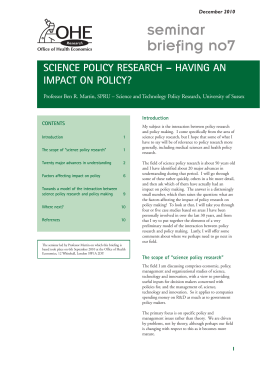 publication - Office of Health Economics