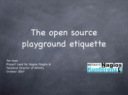 The open source playground etiquette