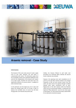 Arsenic removal - Case Study