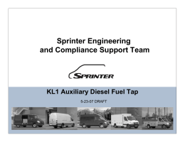 Sprinter Engineering and Compliance Support - aie-services