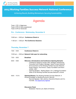 Agenda - Working Families Success Network