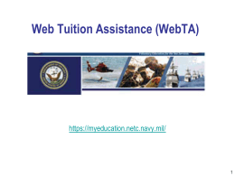 Web Tuition Assistance (WebTA)
