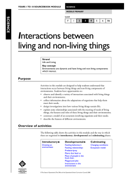 Interactions between living and non-living things